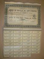 ACTION Mines De Houille De GOUY SERVINS - Mines
