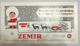 ZEMIR (Belgische Sigaret) - Reclameposter Met Fiscaal Stempel - 440 X 240 Mm - Articoli Pubblicitari