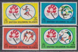 Salomon N° 203 / 06 XX  4è Jeux Sportifs Du Pacifique Sud, Les 4 Valeurs Sans Charnière, TB - British Solomon Islands (...-1978)