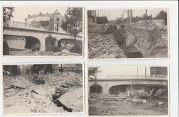 4 CARTE PHOTO:PONT DE VESLE DÉTRUIT EN 1940 REIMS (51) - Reims