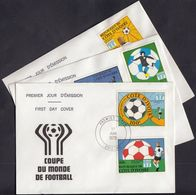 Ivory Coast 1978 / Football World Cup - Argentina / Mi 552-556 / FDC - Costa D'Avorio (1960-...)