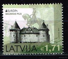 Lettland 2017,Michel# 1012 O  Europa (C.E.P.T.) 2017 - Burgen - Latvia