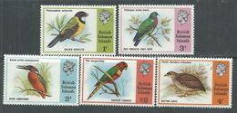 Salomon N° 261 / 65 XX  Série Courante : Oiseaux, Les 5 Valeurs Sans Charnière, TB - British Solomon Islands (...-1978)