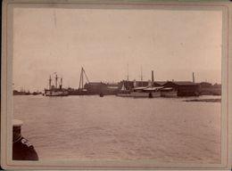 ! Altes Foto Auf Hartpappe, Photo, Panzerschiffe Natter, Kriegsmarine, Danzig Kaiserl. Werft, 1895, Format 9,3 X 12,2 Cm - Krieg