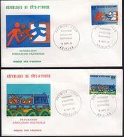 Ivory Coast 1978 / Educational Television / Mi 566-567 / FDC - Costa D'Avorio (1960-...)