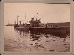 ! Altes Foto Auf Hartpappe, Photo, Torpedoboote, Kriegsmarine, Danzig, 1895, Format 9,3 X 12,2 Cm - Krieg