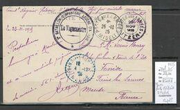 Maroc - CP FM - Poste Militaire - ITZER - 1925 - Cartas