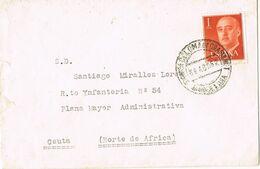 37185. Carta  SANTA COLOMA De GRAMANET (Barcelona) 1962 A CEUTA - 1931-Heute: 2. Rep. - ... Juan Carlos I