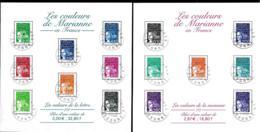 France 2001 BF - Yvert Et Tellier Nr. BF 41/42 - Marianne En Francs Oblitération Postale - Bloc De Notas & Hojas