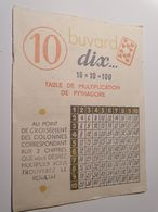 BUVARD 10 TABLE DE MULTIPLICATION PUBLICITE SIROP BATTUT - Drogheria