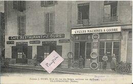 VILLEFRANCHE  Café Restaurant J.Ours Et Cycles Machines à Coudre - Villefranche-sur-Saone