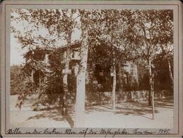 ! Altes Foto Auf Hartpappe, Photo, Villa In Der Birkenallee Westerplatte Danzig, 1895, Format 9,3 X 12,2 Cm - Danzig
