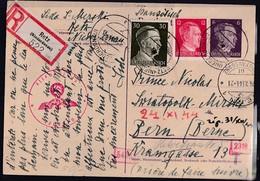 DR. Ganzsache Mi.-Nr. P 299 Als R-Ausland-Karte Gelaufen, Zensiert. - Unclassified