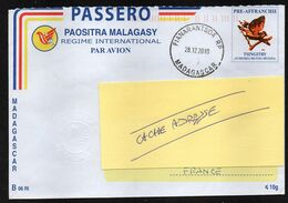 MADAGASCAR  Enveloppe Cover FIANARANTSOA 28 12 2010 - Madagascar (1960-...)