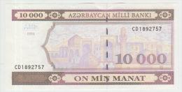 Azerbaijan 10000 Manat 1994  Pick 21b Series CD UNC - Azerbaïdjan