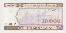 Azerbaijan 10000 Manat 1994  Pick 21b Series CD UNC - Azerbeidzjan