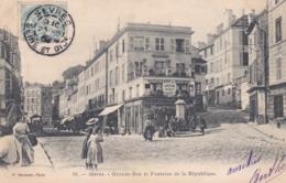 92 SEVRES - Grande Rue Et Fontaine De La République  (lot Pat 122) - Sevres