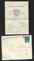 """1912 - Diocèse De Poitiers Paroisse De Smarves,"""" Billet D'adoration Perpétuelle"""",  Lire Suite  -  Qaa6801 - Sonstige"""