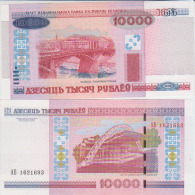 Belarus 10000 Rublei 2000 Pick 30b UNC - Belarus