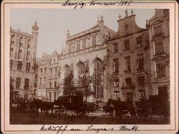 ! Lot Von 15 Alten Fotos Auf Hartpappe, Photos, Danzig, Gdansk, 1895, Format 9,3 X 12,2 Cm - Danzig