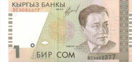 Kyrgyzstan 1 Som  1999  Pick 15 UNC - Kirghizistan