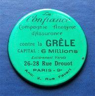 Miroir Publicitaire. Miroir De Courtoisie. La Confiance. Compagnie D'assurance Contre La Grêle. Paris - Pubblicitari