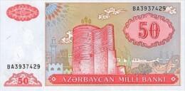 Azerbaijan 50 Manat 1998  Pick 17b UNC - Azerbeidzjan
