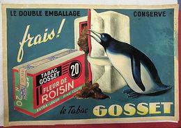 Gosset Fleur De Roisin 20 (tabac) - Magnifique Artwork à La Gouache Sur Carton - 500 X 350 Mm - Articoli Pubblicitari