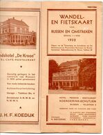 1932  Wandel En Fietskaart Vn Rijssen En Omstreken Nederland Kaart Carte Plan + Reclame Oa Hotels Autobedrijf J Hodes - Carte Geographique