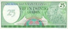 Surinam 25 Gulden 1985 Pick 127b UNC - Suriname