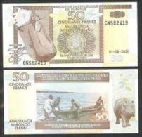 Burundi 50 Francs 2001 Pick 36  UNC - Burundi