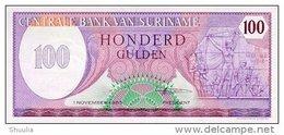Surinam 100 Gulden 1985 Pick 128b UNC - Suriname