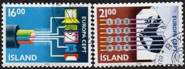 CEPT / Europa 1988 Islande N° 635 Et 636 Obl. Transports Et Télécommunications - 1988