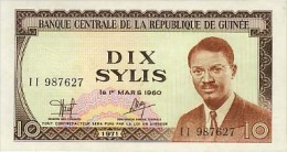 Guinea 10 Sylis 1971 Pick 16 UNC - Guinea