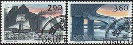 CEPT / Europa 1988 Norvège N° 952 Et 953 Obl. Transports Et Télécommunications - 1988