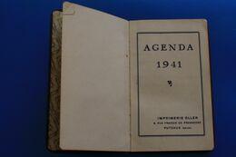 WW2 -1941 AGENDA 1ere Page Mémorandum écrite Le Reste Est VIERGE CALENDRIER CARNET MÉMOIRE/RDV-imprimerie Oller Puteaux - Andere Verzamelingen