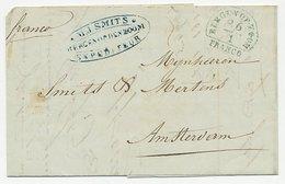St. Nicolaas Belgie - Expediteur Bergen Op Zoom - Amsterdam 1845 - ...-1852 Prephilately