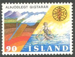 496 Iceland Geothermie Rheumastism Rhumatisme Hot Springs MNH ** Neuf SC (ISL-323) - Bäderwesen