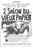 2ème Salon Du Vieux Papier , Place Du XX Août, Liège. Octobre 1982. - Collector Fairs & Bourses