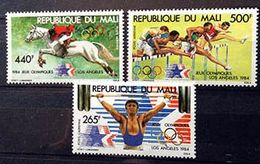 MALI - Jeux Olympiques 1984 - 3 Timbres Neufs - Y&T 498-500 - Mali (1959-...)