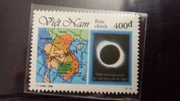 Viet Nam Vietnam MNH Specimen Solar Eclipse Stamp 1995 (Ms721) - Vietnam