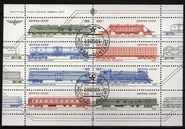 Sowjetunion/Russia 1985 Mi.5515-22 KB Lokomotiven / Sc.5375 M/S Railways Gestempelt/used - 1923-1991 USSR