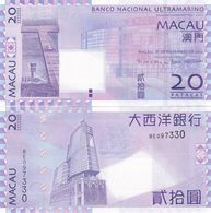 Macao Macau - 20 Patacas 2013 UNC BNU P. 81c Lemberg-Zp - Macao