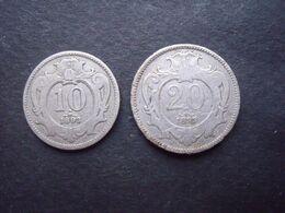 AUTRICHE = 2 PIECES  DE 10 ET 20 HELLER DE 1893 - Oostenrijk