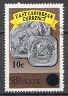 St Vincent Used Stamp, Revalued 10c On 6c - Monete