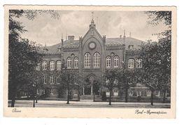 Ansichtskarte , Peine Real-Gymnasium , 40iger Jahre - Peine