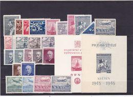 (K 6465) Tschechoslowakei, Kpl. Jahrgang 1946** - Czechoslovakia
