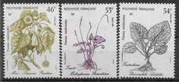 1987 POLYNESIE FRANCAISE 285-87** Plantes Médicinales - French Polynesia