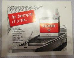 Zemir (cigarette) - Affiche Publicitaire Papier - 230 X 180 Mm - Articoli Pubblicitari