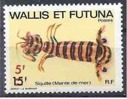 1981 WALLIS FUTUNA 276** Faune Marine, Squille, Surchargé - Wallis And Futuna